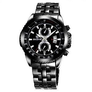 Relógio Masculino Skone Analógico Preto - 7383BG (Submostradores Ilustrativo)