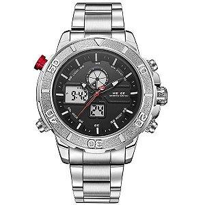 Relógio Masculino Weide Anadigi WH-6108 Prata