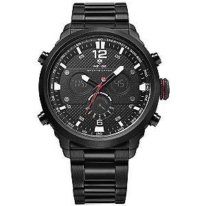 Relógio Masculino Weide Anadigi WH-6303 Branco