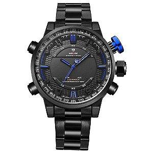 Relógio Masculino Weide Anadigi WH-6402 Azul