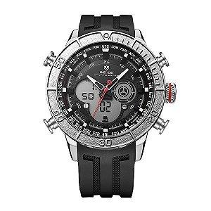 Relógio Masculino Weide Anadigi WH-6308 Prata