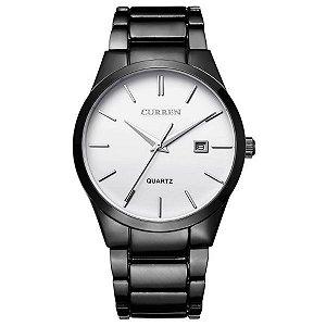 Relógio Masculino Curren Analógico 8106 Branco