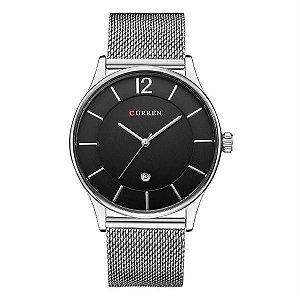 Relógio Masculino Curren Analógico 8231 - Prata e Preto