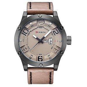 Relógio Masculino Curren Analógico 8251 Bege