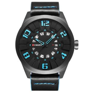 Relógio Masculino Curren Analógico 8258 Azul