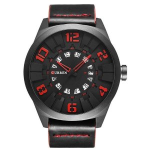 Relógio Masculino Curren Analógico 8258 Vermelho