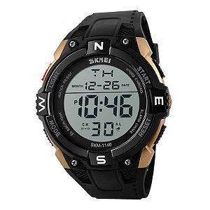 Relógio Masculino Skmei Digital 1140 Preto e Dourado