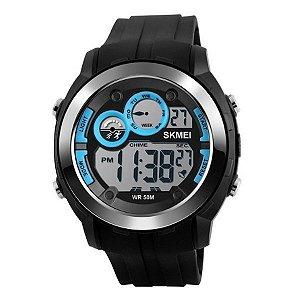 Relógio Masculino Skmei Digital 1234 - Preto e Azul