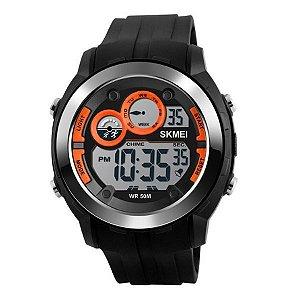 Relógio Masculino Skmei Digital 1234 Laranja