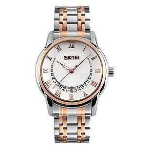 Relógio Masculino Skmei Analógico 9122 Dourado