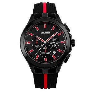 Relógio Masculino Skmei Analógico 9135 Vermelho