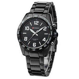 Relógio Curren Analógico 8107 Branco