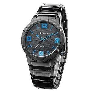 Relógio Curren Analógico 8111 Preto e Azul