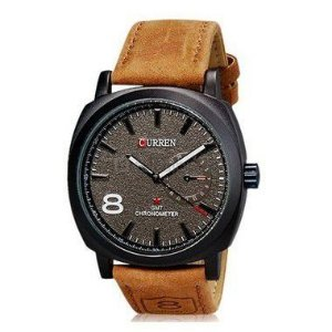Relógio Curren Analógico 8139 Marrom