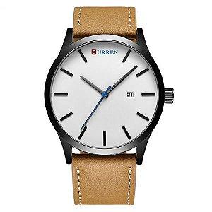 Relógio Curren Analógico 8214 Branco