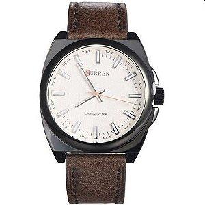 Relógio Curren Analógico 8168 Marrom e Preto
