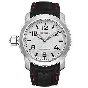 Relógio Curren Analógico 8173 Preto e Prata