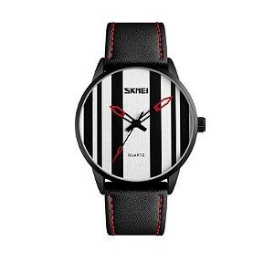 Relógio Masculino Skmei Analógico 1602S - Preto e Branco