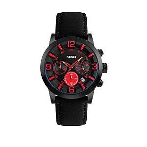 Relógio Masculino Skmei Analógico 9147 Vermelho