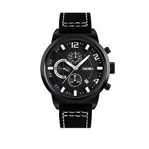 Relógio Masculino Skmei Analógico 9149 - Preto e Branco