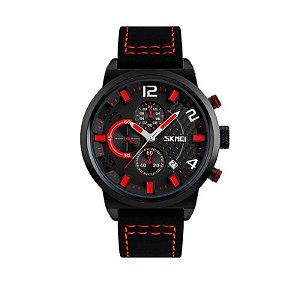 Relógio Masculino Skmei Analógico 9149 - Preto e Vermelho