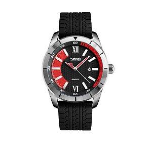 Relógio Masculino Skmei Analógico 9151 Vermelho