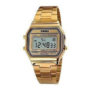 Relógio Feminino Skmei Digital 1123 Dourado
