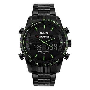 Relógio Masculino Skmei Anadigi 1131 Verde