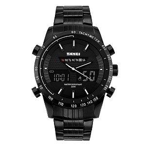 Relógio Masculino Skmei Anadigi 1131 Branco