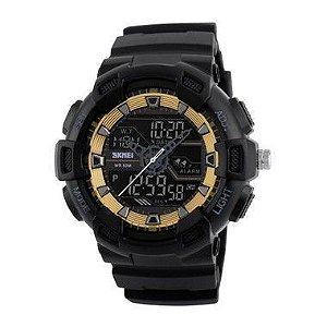Relógio Masculino Skmei Anadigi 1189 Dourado