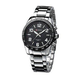 Relógio Masculino Curren Analógico 8170 Preto e Prata