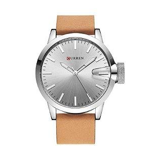 Relógio Masculino Curren Analógico 8208 Prata