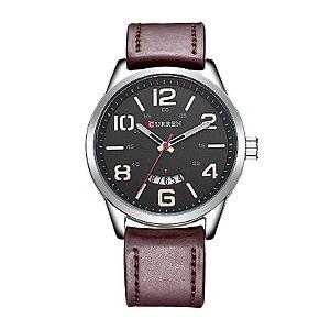 Relógio Masculino Curren Analógico 8236 Prata e Preto