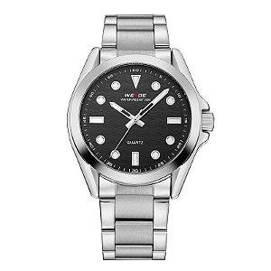 Relógio Masculino Weide Analógico WH802 Prata e Preto