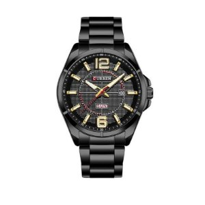Relógio Masculino Curren Analógico 8271 Preto e Dourado