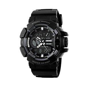 Relógio Masculino Skmei Anadigi 1117 Cinza