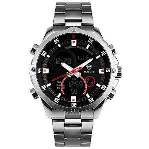 15755ec0656 Relógio Masculino Tuguir Anadigi TG2137 Preto - ShopDesconto - Aqui ...