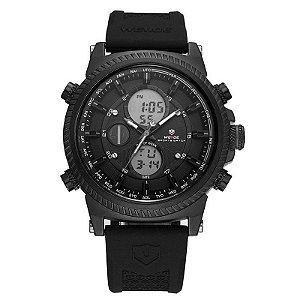 Relógio Masculino Weide Anadigi WH6403 Preto