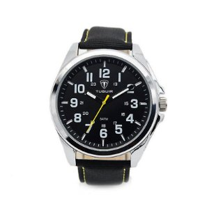Relógio Masculino Tuguir Analógico 5045 - Preto e Prata