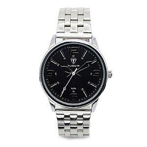 Relógio Masculino Tuguir Analógico 5054 Prata e Preto