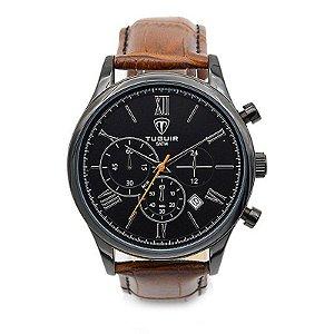 Relógio Masculino Tuguir Analógico 5006 Preto e Marrom