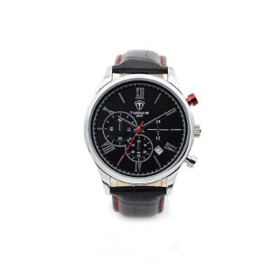 Relógio Masculino Tuguir Analógico 5006 Preto e Prata