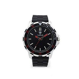 Relógio Masculino Tuguir Analógico 5012 - Preto e Prata