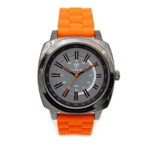 Relógio Masculino Tuguir Analógico 5014 - Laranja e Preto