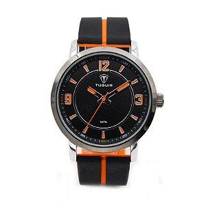 Relógio Masculino Tuguir Analógico 5016 Preto e Laranja