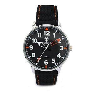 Relógio Masculino Tuguir Analógico 5022 - Preto e Branco e Laranja