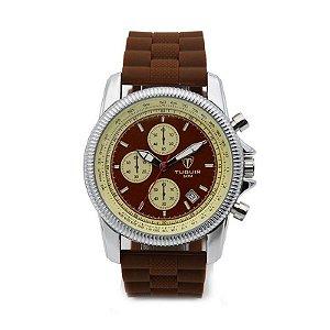 Relógio Masculino Tuguir Analógico 5027 Marrom