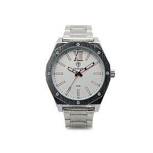 Relógio Masculino Tuguir Analógico 5032 - Prata e Branco