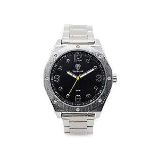 Relógio Masculino Tuguir Analógico 5034 Prata e Preto