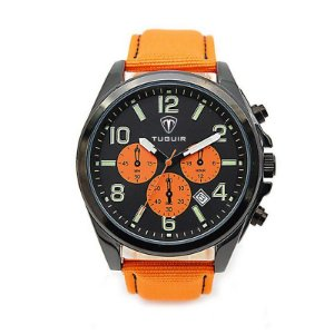 Relógio Masculino Tuguir Analógico 5039 Laranja e Preto
